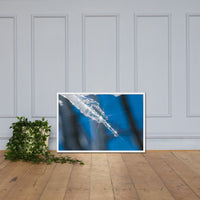 Icicle Nature Photo Framed Wall Art Print White / 24×36 - PIPAFINEART