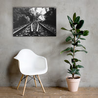 Lead Me Into The Light Black and White Rural Landscape Canvas Rural / Farmhouse / Country Style Landscape Scene - Living Room Wall Art Print 24×36