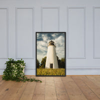 Turkey Point Lighthouse Standing Tall Landscape Framed Photo Paper Wall Art Prints Black / 24×36 - PIPAFINEART