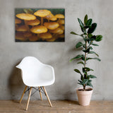 Mushroom Family Botanical Nature Canvas Wall Art Prints 24×36 - PIPAFINEART