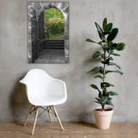 Garden Entryway Black and White Floral Nature Canvas Wall Art Prints 24×36 - PIPAFINEART