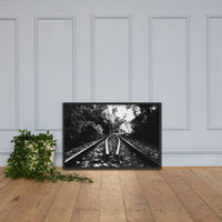 Lead Me Into The Light in Black and White Framed Photo Paper Rural / Farmhouse / Country Style Landscape Scene - Living Room Wall Art Print Black / 24×36