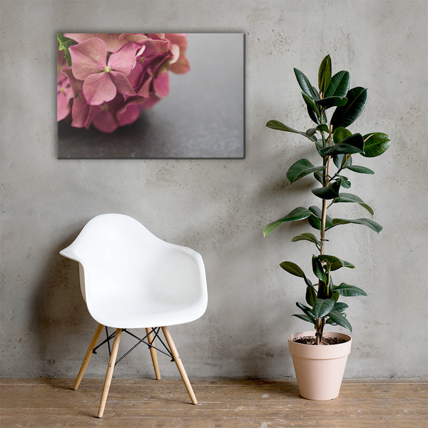 Close-Up Hydrangea on Slate Floral Nature Canvas Wall Art Prints 24×36 - PIPAFINEART