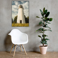 Turkey Point Lighthouse Standing Tall Coastal Landscape Canvas Wall Art Prints 24×36 - PIPAFINEART