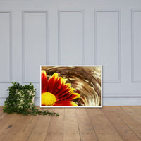 Floating Mum Floral Nature Photo Framed Wall Art Print White / 24×36 - PIPAFINEART