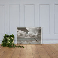 Wanderlust Aged and Colorized Coastal Landscape Photo Framed Wall Art Print White / 24×36 - PIPAFINEART