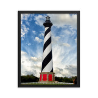 Cape Hatteras Lighthouse Coastal Landscape Framed Photo Paper Wall Art Prints Black / 16×20 - PIPAFINEART