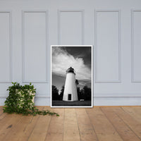 Touch the Sky Black & White Landscape Framed Photo Paper Wall Art Prints White / 24×36 - PIPAFINEART