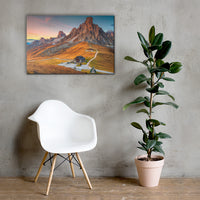 Majestic Sunset and Alpine Mountain Pass Rural Landscape Canvas Wall Art Prints 24×36 - PIPAFINEART