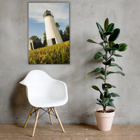 Turkey Point Lighthouse Coastal Landscape Canvas Wall Art Prints 24×36 - PIPAFINEART