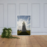 Turkey Point Lighthouse with Sun Flare Framed Photo Paper Wall Art Prints White / 24×36 - PIPAFINEART