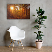 Autumn Sunset Rural Landscape Canvas Wall Art Prints 24×36 - PIPAFINEART