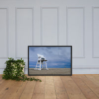 Approaching Storm Coastal Landscape Framed Photo Paper Wall Art Prints Black / 24×36 - PIPAFINEART