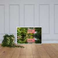 The Reflections of Wooddale Covered Bridge Framed Photo Paper Wall Art Prints White / 24×36 - PIPAFINEART