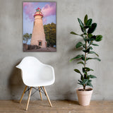 Marblehead Lighthouse at Sunset Coastal Landscape Canvas Wall Art Prints 24×36 - PIPAFINEART