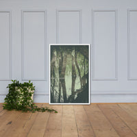 Early Spring Reflections on the Marsh Botanical Nature Photo Framed Wall Art Print White / 24×36 - PIPAFINEART