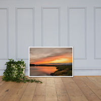 Sunset Over Woodland Marsh Framed Photo Paper Wall Art Prints White / 24×36 - PIPAFINEART