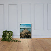 Endless Dock Coastal Landscape Framed Photo Paper Wall Art Prints White / 18×24 - PIPAFINEART