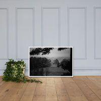 Mist of Valley Forge in Black and White Framed Photo Paper Wall Art Prints White / 24×36 - PIPAFINEART