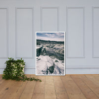 Great Falls Vintage Rural Landscape Framed Photo Paper Wall Art Prints White / 24×36 - PIPAFINEART