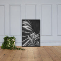 Bloodflowers and Palm Black and White Framed Wall Art Print Black / 24×36 - PIPAFINEART