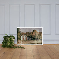 Patriotic Weathered Barn in Field - Glass Plate Framed Photo Paper Wall Art Prints White / 24×36 - PIPAFINEART