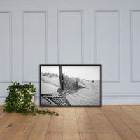 High Key Dunes Black & White Photo Framed Photo Paper Wall Art Prints Coastal / Beach / Shore / Seascape Landscape Scene Black / 24×36