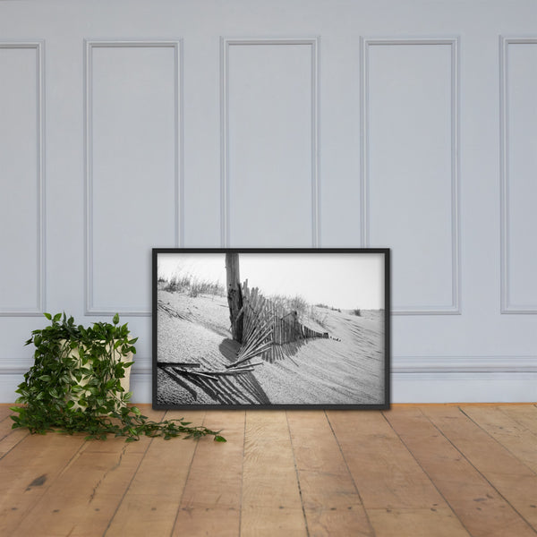 High Key Dunes Coastal Landscape Framed Photo Paper Wall Art Prints Black / 24×36 - PIPAFINEART