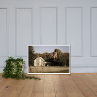 Patriotic Barn in Field Aged Effect Framed Photo Paper Wall Art Prints White / 24×36 - PIPAFINEART
