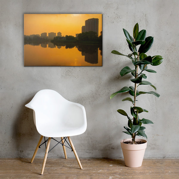Wilmington at Sunrise Urban Landscape Canvas Wall Art Prints 24×36 - PIPAFINEART