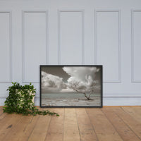 Wanderlust Aged and Colorized Coastal Landscape Photo Framed Wall Art Print Black / 24×36 - PIPAFINEART