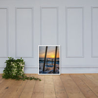 Sunrise Between the Pillars Coastal Landscape Framed Photo Paper Wall Art Prints White / 18×24 - PIPAFINEART