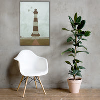 Aged Colorized Bodie Island Lighthouse Canvas Wall Art Prints 24×36 - PIPAFINEART