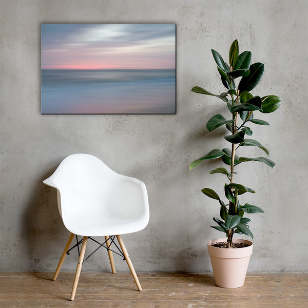 The Colors of Evening on the Beach Coastal Landscape Canvas Wall Art Prints 24×36 - PIPAFINEART