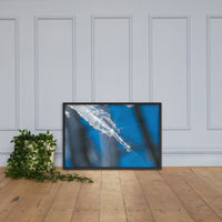 Icicle Nature Photo Framed Wall Art Print Black / 24×36 - PIPAFINEART