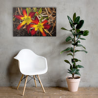 Royal Sunset Lily Floral Nature Canvas Wall Art Prints 24×36 - PIPAFINEART