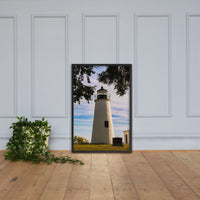 Turkey Point Lighthouse in the Trees Landscape Framed Photo Paper Wall Art Prints Black / 24×36 - PIPAFINEART