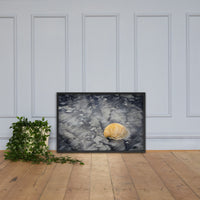 Black Sands and Seashell on the Shore Coastal Nature Photo Framed Wall Art Print Black / 24×36 - PIPAFINEART