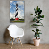 Cape Hatteras Lighthouse Coastal Landscape Canvas Wall Art Prints 24×36 - PIPAFINEART