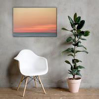 Abstract Color Blend Ocean Sunset Coastal Landscape Canvas Wall Art Print 24×36 - PIPAFINEART