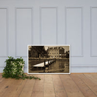 Delaware City Dock  Framed Photo Paper Wall Art Prints - Coastal / Beach / Shore / Seascape Landscape Scene White / 24×36