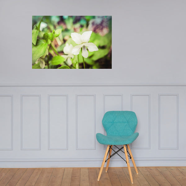 Tranquil China Violet Floral Nature Photo Loose Unframed Wall Art Prints 24×36 - PIPAFINEART