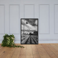 Follow the Lines Rural Landscape Framed Photo Paper Wall Art Prints Black / 24×36 - PIPAFINEART