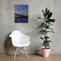 Indian River Bridge 2 Urban Landscape Traditional Canvas - Living Room / Bedroom / Dining Room Wall Art Print 18×24