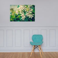 Indian Hawthorn Shrub in Bloom Colorized Floral Nature Photo Loose Unframed Wall Art Prints 24×36 - PIPAFINEART