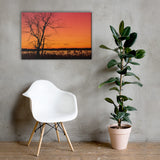 Burning Skies Rural Landscape Canvas Wall Art Prints 24×36 - PIPAFINEART