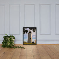 Turkey Point Lighthouse in the Trees Landscape Framed Photo Paper Wall Art Prints Black / 18×24 - PIPAFINEART
