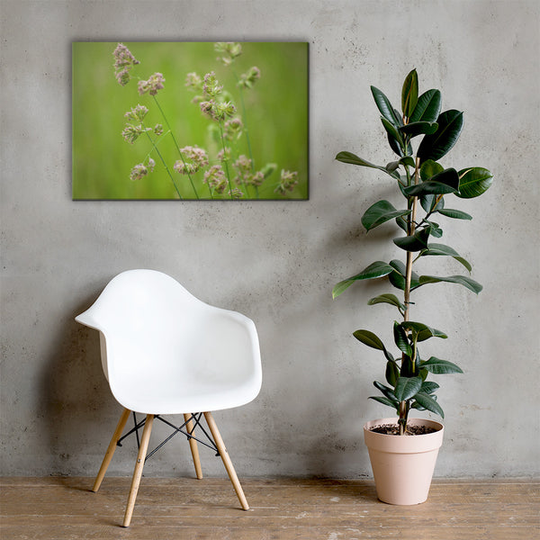 Softened Fields Floral Nature Canvas Wall Art Prints 24×36 - PIPAFINEART