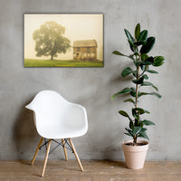 Abandoned House on Adams Dam Rd Rural Landscape Canvas Wall Art Prints 24×36 - PIPAFINEART
