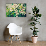 Indian Hawthorn Shrub in Bloom Colorized Floral Nature Canvas Wall Art Prints 24×36 - PIPAFINEART